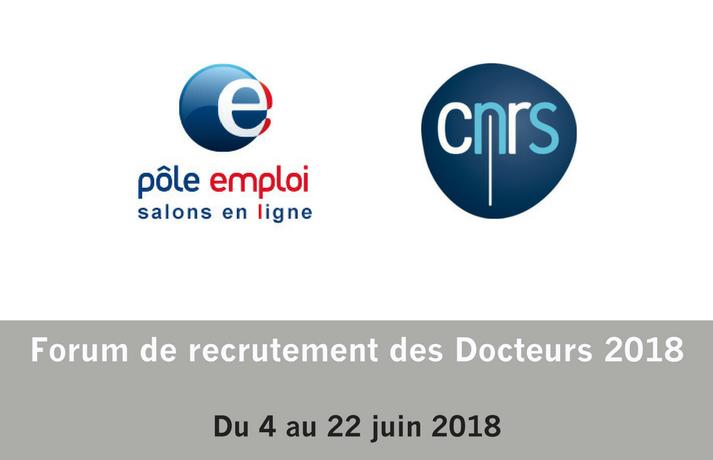 Forum de recrutement des Docteurs 2018 CNRS/Pôle Emploi