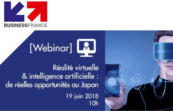 Webinar Réalité virtuelle & Intelligence artificielle : de réelles opportunités au Japon
