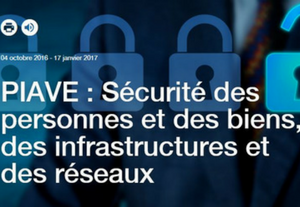 PIAVE : Sécurité des personnes et des biens, des infrastructures et des réseaux