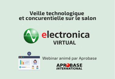 Webinar : optimisez votre participation à Electronica Virtual grâce à la veille partagée