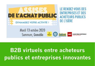 B2B virtuels entre acheteurs publics et entreprises innovantes