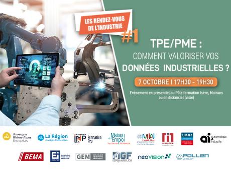 Les rendez-vous de l'industrie : TPE/PME, comment valoriser vos données industrielles ?
