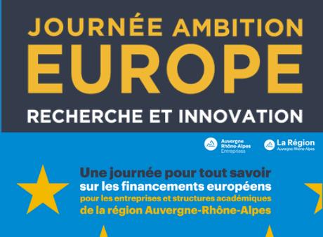 Journée Ambition Europe : recherche et innovation